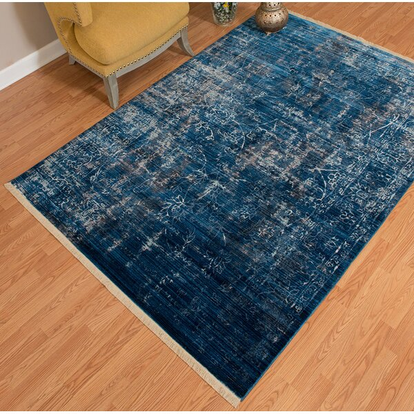 Barclee Power Loom Blue Indoor Area Rug by Williston Forge