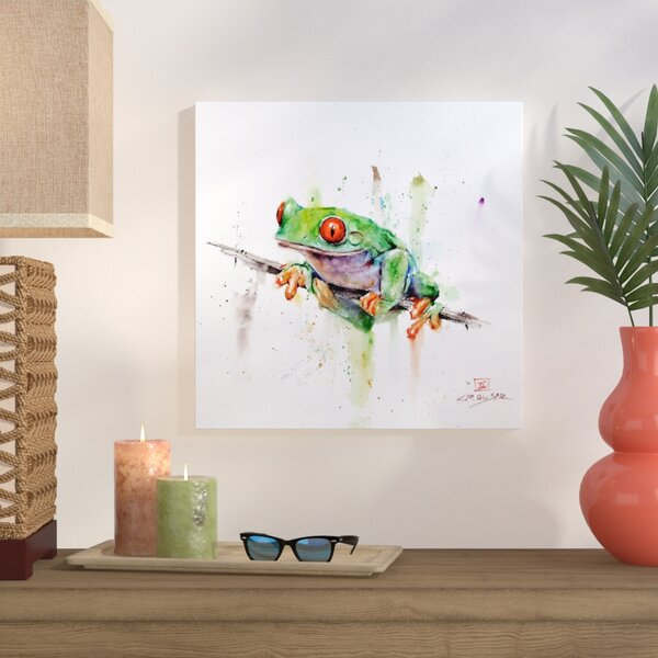 Frog Painting Print on Wrapped Canvas by Bay Isle Home