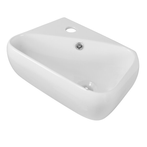 Ceramic 6 Wall Mount Bathroom Sink with Overflow by American Imaginations