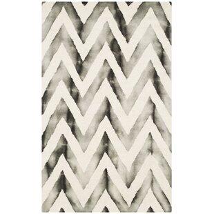 Vandermark Hand-Tufted Ivory/Charcoal Area Rug by Brayden Studio