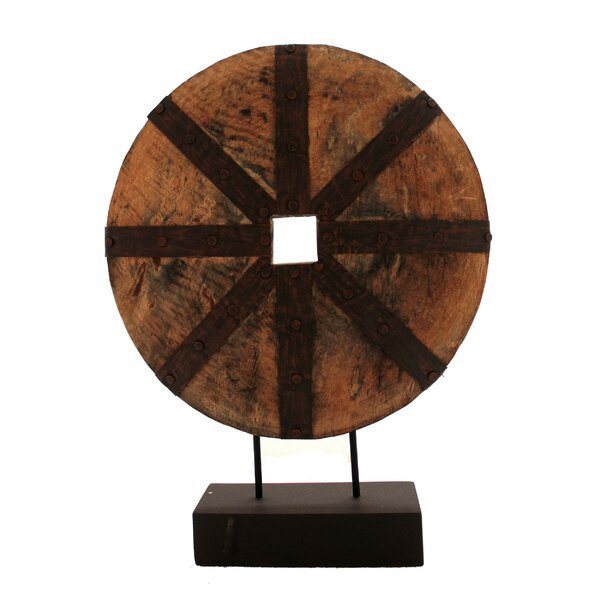 Simone Decorative Wooden Disk Sculpture by Loon Peak