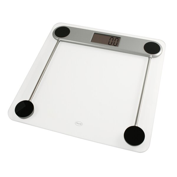 Low Profile Glass Bathroom Scale by AWS