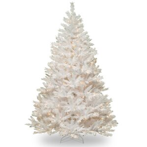 Winchester Pine 7 White Artificial Christmas Tree With 450 Clear Lights And Stand