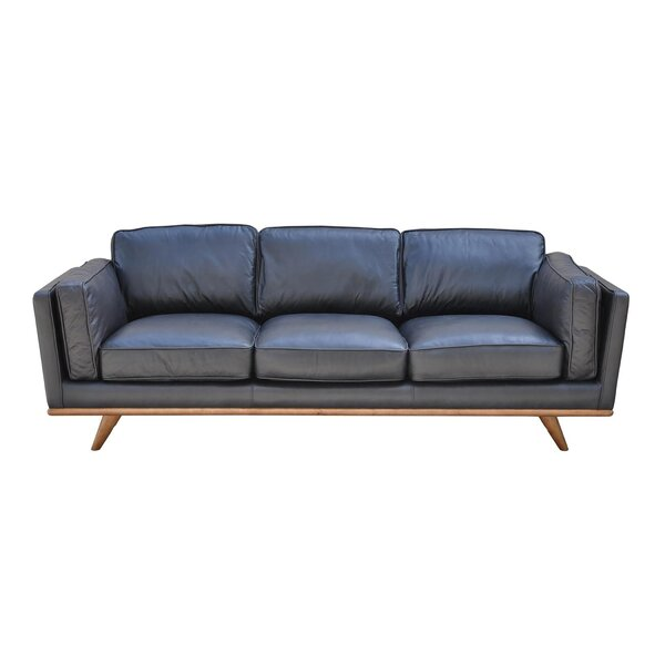 Our Special Lang Leather Sofa by Union Rustic by Union Rustic