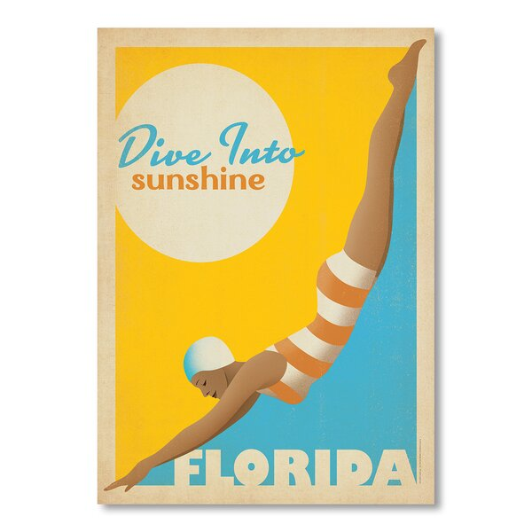 Dive into Florida Vintage Advertisement by East Urban Home