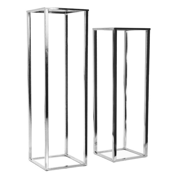 Naya Square Pedestal 2 Piece Plant Stand Set By Mercer41
