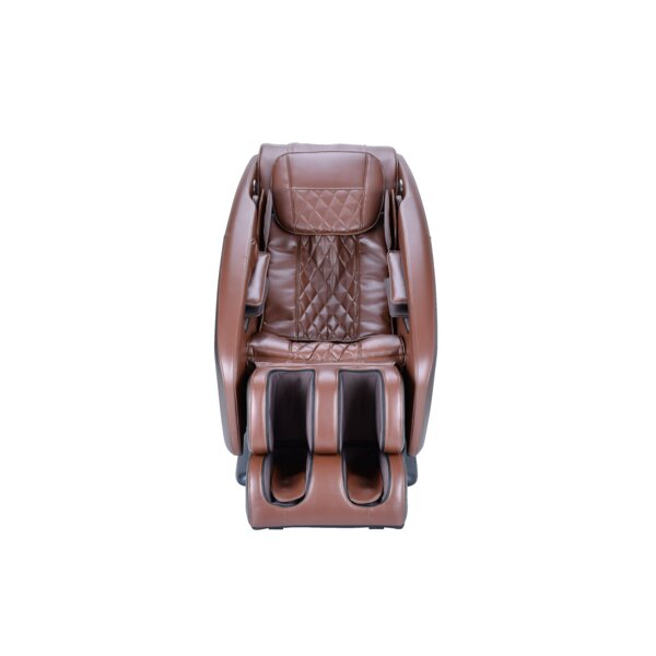 Genuine Leather Reclining Adjustable Width Heated Full Body Massage Chair by Homedics Homedics