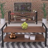 Schiff 4 Legs Coffee Table with Storage by 17 Stories