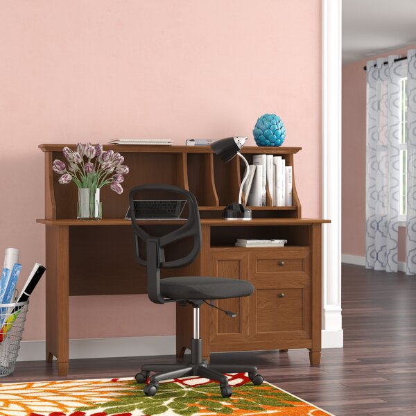 Humphery Computer Desk with Hutch by Three Posts