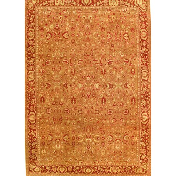 One-of-a-Kind Danielson Hand-Knotted Orange 10' x 14'3 Wool Area Rug