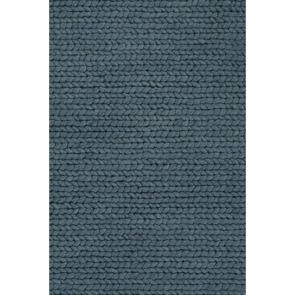 Comfort Hand-Woven Petrol Area Rug by Linie Design