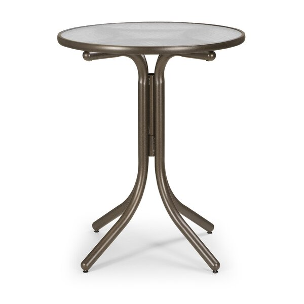 Glass Top Round Table by Telescope Casual