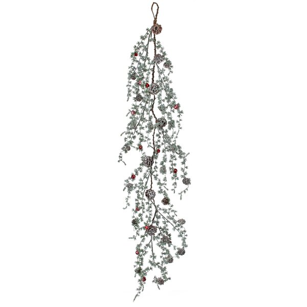 54 Frost Glit Ming Pine Garland by The Holiday Aisle