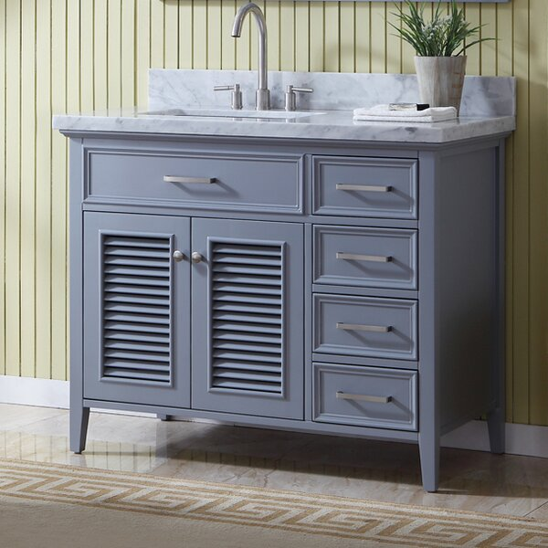 Hamil 43 Single Bathroom Vanity with Mirror by Highland Dunes