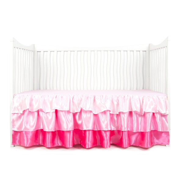 Ruffled Satin Crib Skirt by Tadpoles