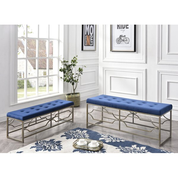 Cavin 2 Piece Upholstered Tufted Ottoman Set by Mercer41