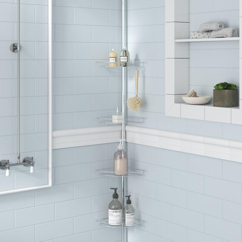 Zipcode Design Kohr Pole Shower Caddy & Reviews   Wayfair