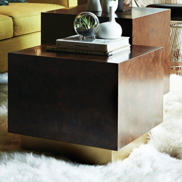 Milton Burl Cube End Table by M3LD
