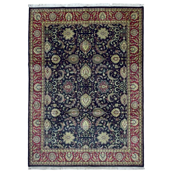 One-of-a-Kind Aca Hand-Woven Wool Navy Area Rug by Isabelline