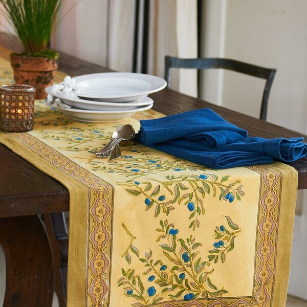 Olive Tree Table Runner by Couleur Nature