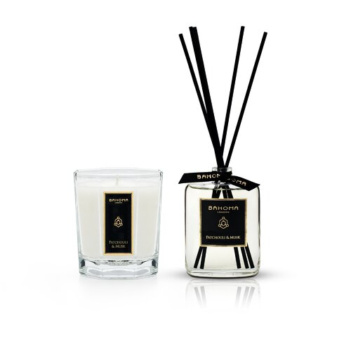 2 Piece Black Obsidian 100Ml Room Diffuser and Patchouli Mus