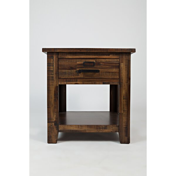 Rodrigo Wooden End Table by Millwood Pines