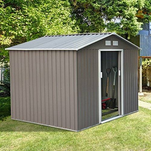 9 ft. W x 6 ft. D Metal Storage Shed by Outsunny