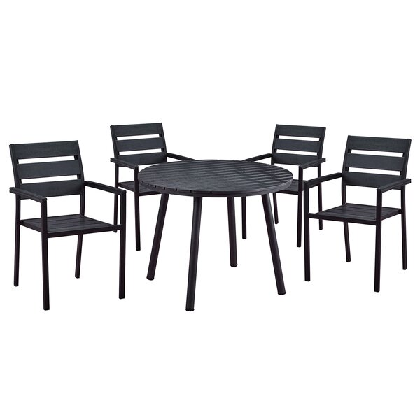 Galles Modern Contemporary 5 Piece Dining Set by Wrought Studio