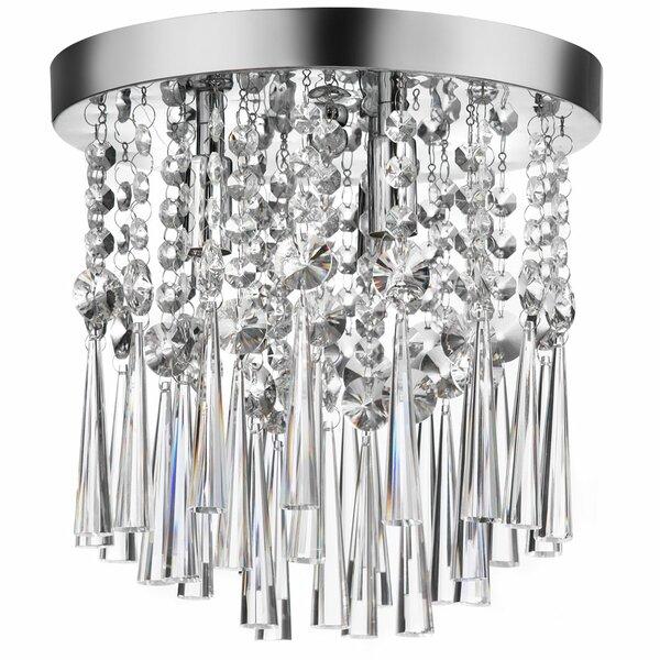 Deverel 3-Light Crystal Flush Mount by Willa Arlo Interiors
