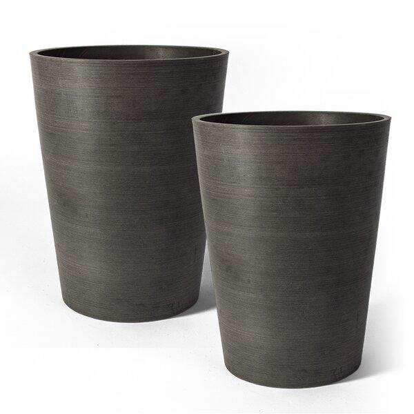 Cara Composite Pot Planter (Set of 2) by Charlton Home
