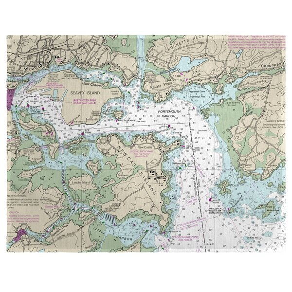 Portsmouth Harbor, NH 18 Placemat (Set of 4) by East Urban Home