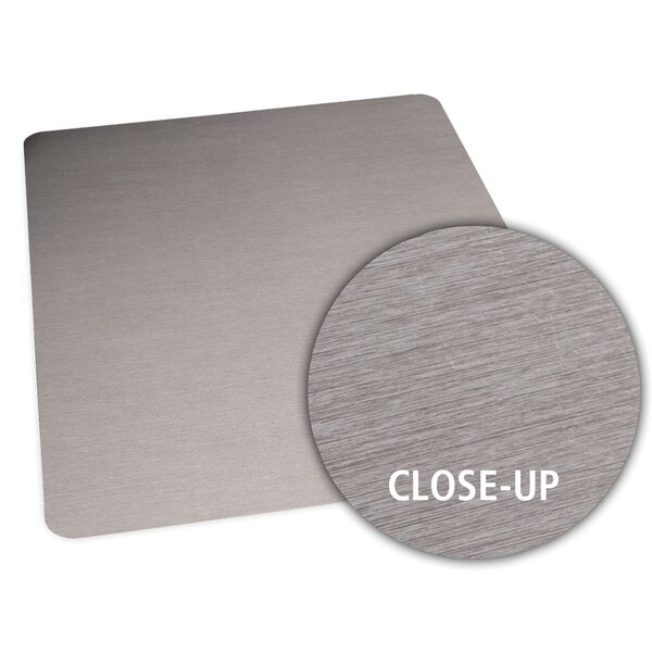 Brushed Stainless Design Chair Mat by ES Robbins Corporation