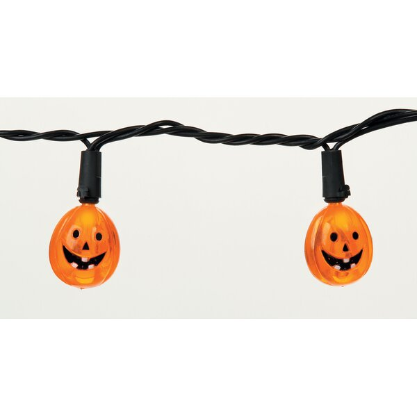 Round LED Pumpkin 20 Light String Lights by The Holiday Aisle