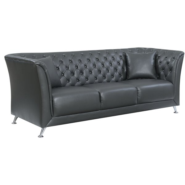 Keely Contemporary Button Tufted Sofa by Rosdorf Park