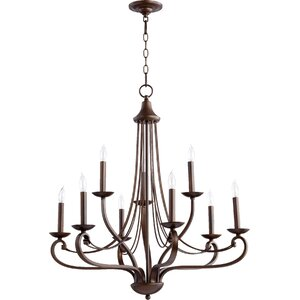 Lariat 9-Light Candle-Style Chandelier