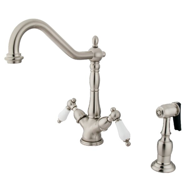 Heritage Double Handle Kitchen Faucet with Side Spray by Kingston Brass