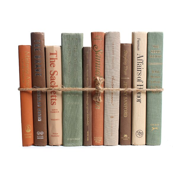 Authentic Decorative Books - By Color Modern Harvest ColorPak (1 Linear Foot, 10-12 Books) by Booth & Williams