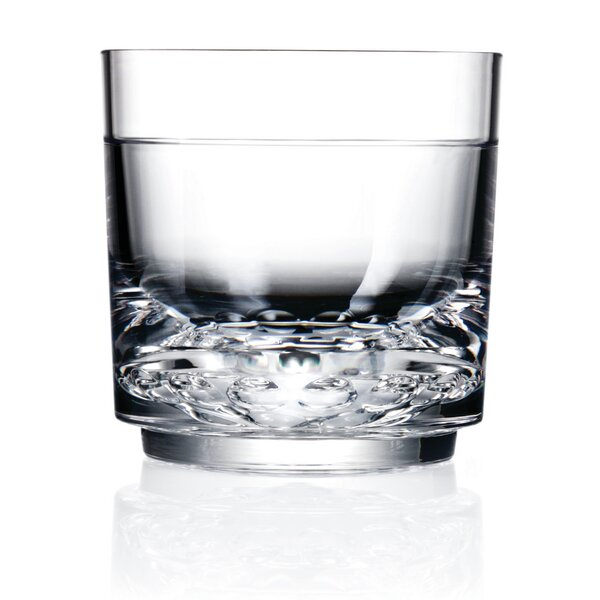 Elite Rock Old Fashioned 10 oz. Plastic Cocktail Glass (Set of 4) by Drinique