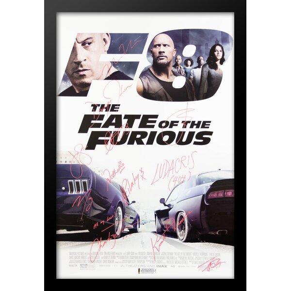 Fate of the Furious Framed Autographed Movie Poster Framed Wall Art by LuxeWest