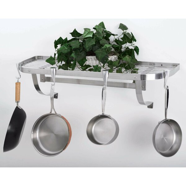 Stainless Steel Wall Mounted Pot Rack by Concept Housewares