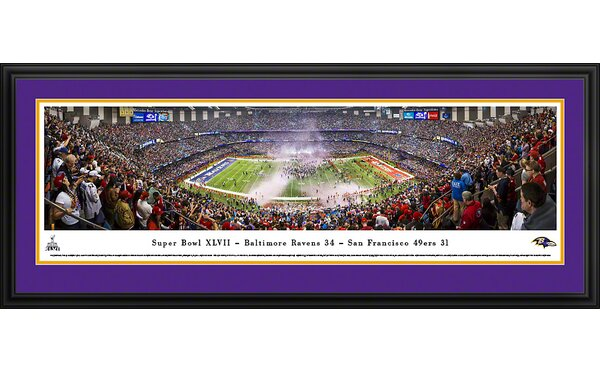 NFL Super Bowl 2013 by Christopher Gjevre Framed Photographic Print by Blakeway Worldwide Panoramas, Inc
