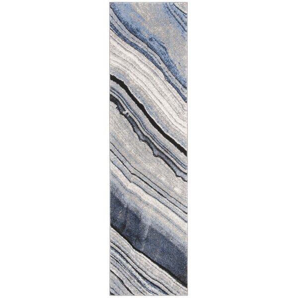 Azuela Blue/Gray Area Rug by Orren Ellis