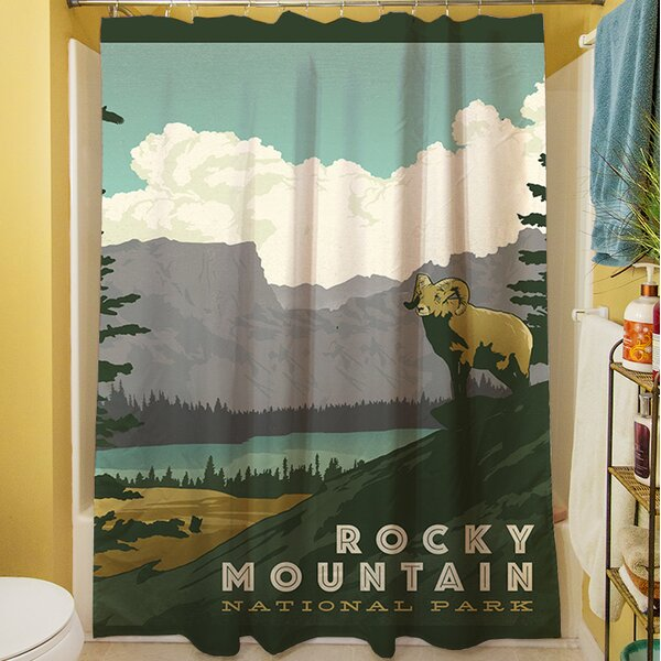 Rocky Mountain National Park Shower Curtain by Manual Woodworkers & Weavers