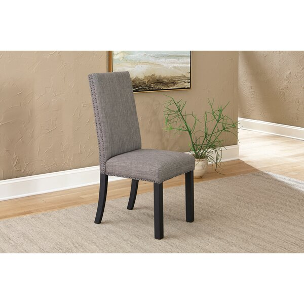 Falconi Fabric Upholstered Parsons Chair In Gray (Set Of 2) By Red Barrel Studio