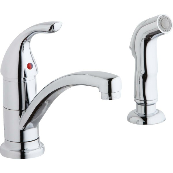 Single Handle Kitchen Faucet with Side Spray by Elkay