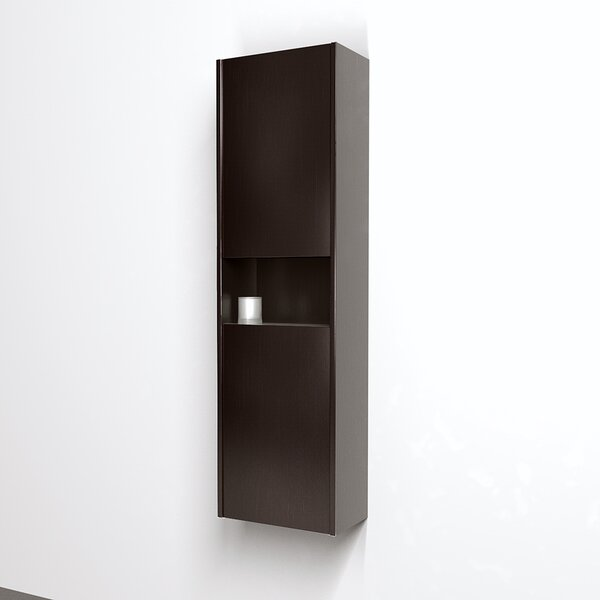 Sarah 16 W x 56 H Wall Mounted Cabinet by Wyndham Collection
