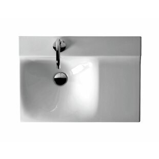 Comparison Buddy Ceramic 24 Wall Mount Bathroom Sink By WS Bath Collections