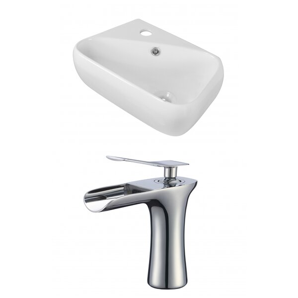 Ceramic 11 Wall Mount Bathroom Sink with Faucet and Overflow by Royal Purple Bath Kitchen