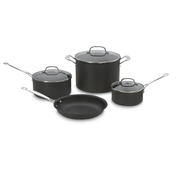 Non-Stick Hard Anodized 7-Piece Set by Cuisinart