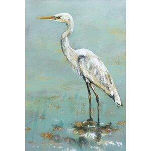 'Herons II' Painting Print on Wrapped Canvas by Beachcrest Home